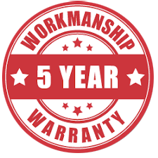 5 years workmanship guarantee